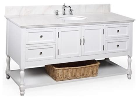 St Biverly Ceruty White 1 beverly 60 quot single sink bath vanity white white cl 225 sico