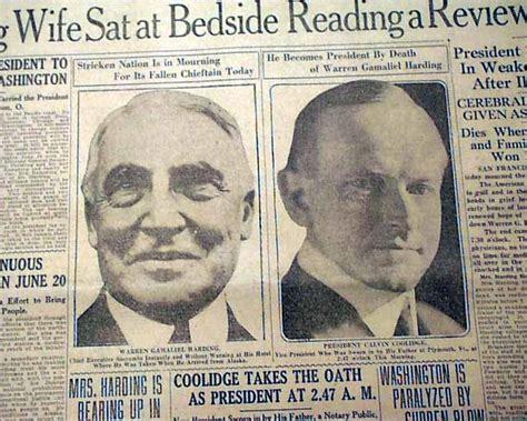 President Died In Office by President Harding Dies In Office Rarenewspapers