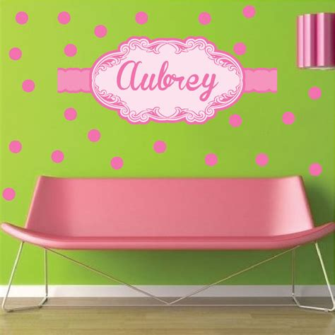 custom nursery wall decals custom name wall decal pink wall stickers for