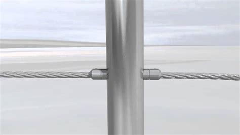 Edelstahlgeländer Selbstbau by 5 Stahlseilgel 228 Nder Bodenmontage Edelstahl Drahtseil 4mm