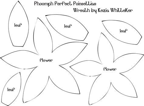 9 best images of poinsettia flower template printable