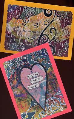 quick printable christmas cards joanna grant mixed media art quick easy gelli print