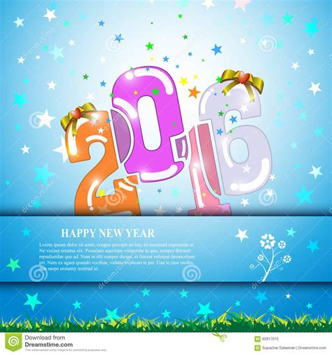 new year banner template vector abstract 2016 happy new year banner template design