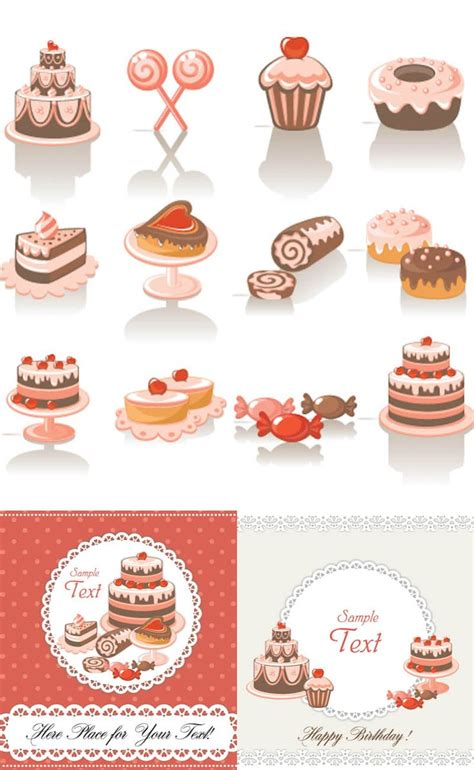 design elements cdr 3 sets of vector decorative sweets design elements and two