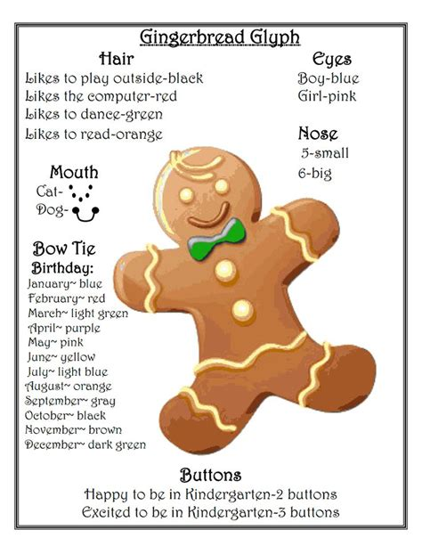 gingerbread man glyph printable gingerbread man glyph pdf reading pinterest gingerbread