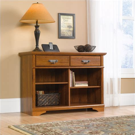 sauder harvest mill console table 403893