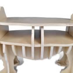 regal mit tisch der holz nashorn regal organizer beistelltisch tisch
