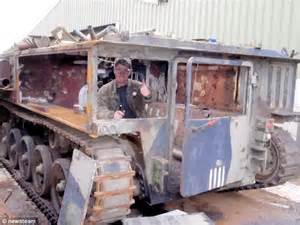 armoured vehicle turned into a hearse so