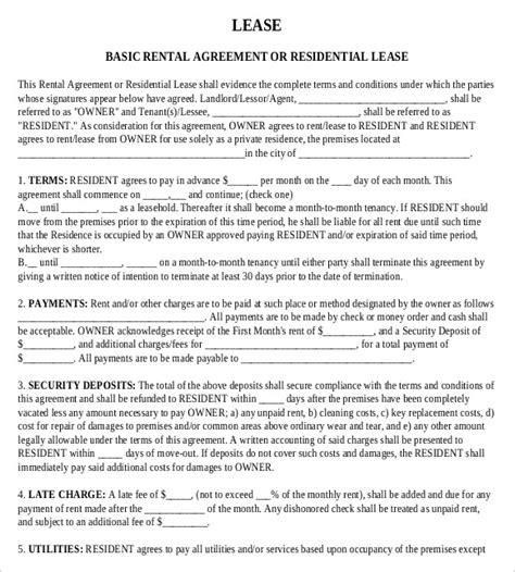 Trailer Rental Agreement Template Rental Agreement Templates 15 For Free Lease Agreement Trailer Rental Agreements Template