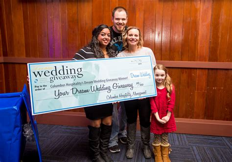 Dream Wedding Giveaway - dream wedding giveaway winner announced columbus hospitality management