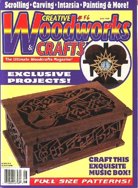 woodworks and crafts creative woodworks crafts issue 56 june 1998
