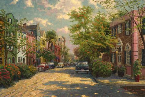 Charleston Row Houses - rainbow row charleston limited edition art the thomas kinkade company