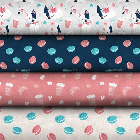 pattern fabric mockup pattern design collection fabric stack mock up by ejanas