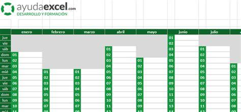 Calendario Colombia 2017 Excel Plantillas Calendario En Excel 2017 Ayuda Excel