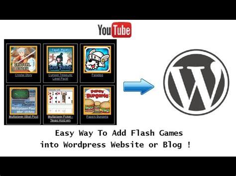 tutorial web easy wordpress tutorial easy way how to add embed free flash