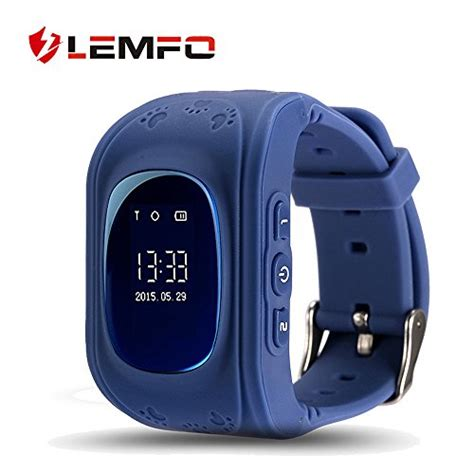 Smartwatch Q50 Q50 Smart For With Gps Sim Card Blue lemfo q50 smart gps smartwatch phone anti lost sos call children finder fitness tracker