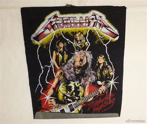 I Thrash Metal Retro metallica vintage jacket back patch 80 s thrash metal live