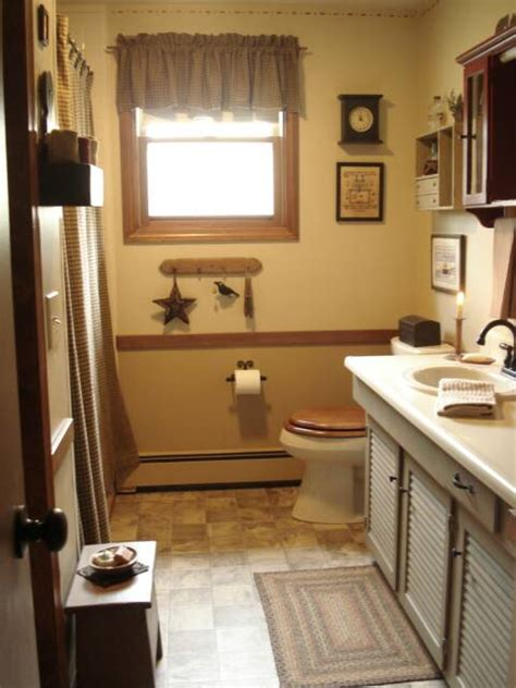 Decor Ideas For Bathrooms Primitive Bathroom Decor Visionencarrera