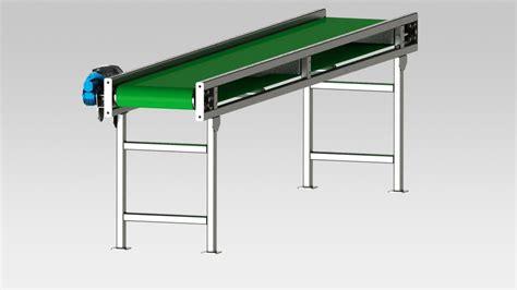 design criteria for belt conveyor conveyor belt step iges 3d cad model grabcad