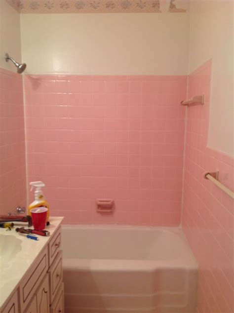 removing bathroom wall tile how do i remove the adhesive from 1950 s pink wall tiles