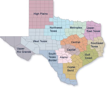 economic map of texas texas politics the comptroller s map of the texas economy