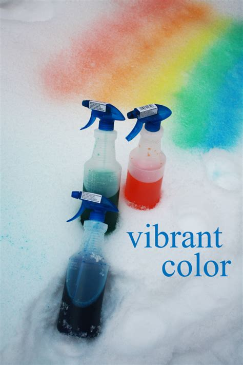 spray paint in the snow ideas and toddler activities the sits