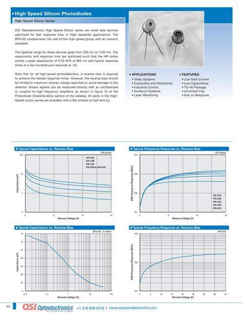 photodiode osi high speed silicon photodiodes