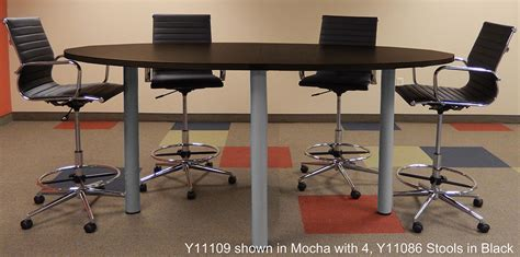 Standing Meeting Table Oval Standing Height Conference Tables In Maple White Or Mocha 8 Length See Other Sizes