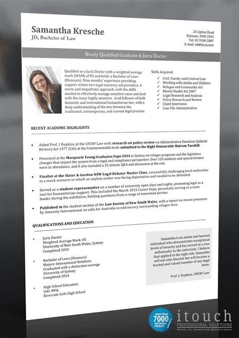 itouch resume graduate itouch resume writers