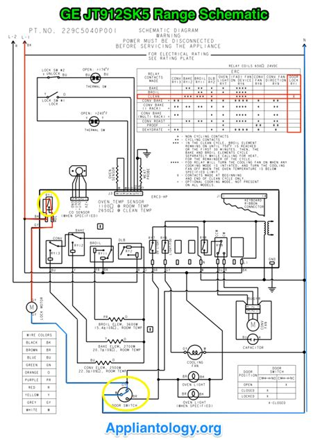 ge jt912sk5 range schematic the appliantology gallery