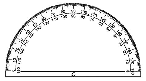 printable protractor with ruler printable protractor 360 clipart best