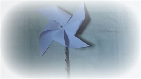 How To Make A Windmill Out Of Paper - paper craft how to make paper pinwheel windmill easy