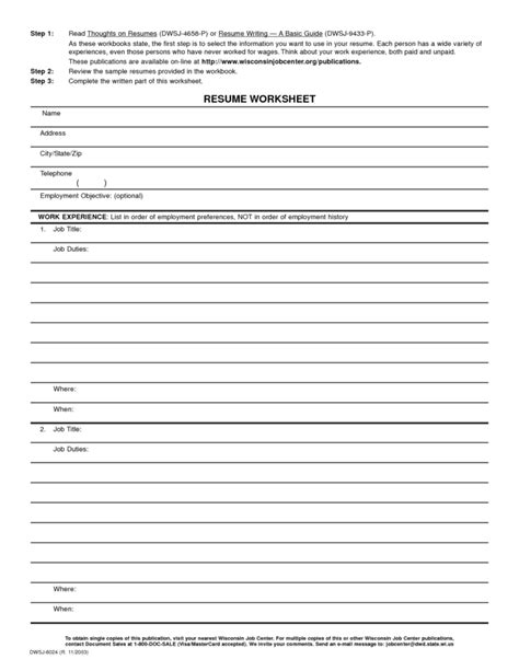 resume worksheet template blank worksheet templates blank spreadsheet spreadsheet