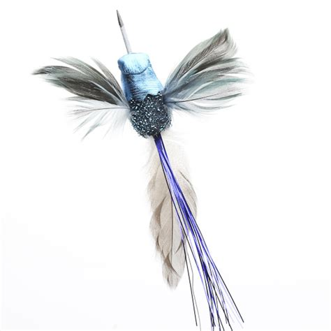 electric blue artificial hummingbirds birds