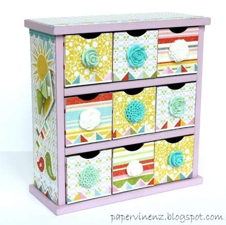 Scrapbook Paper Drawers by Scrapbooking Crafts For Home