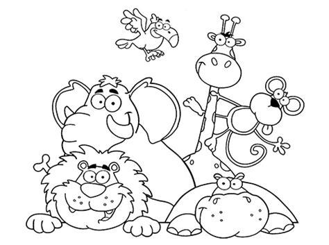 imagenes de animales jugando para colorear dibujos para colorear de animales web del maestro