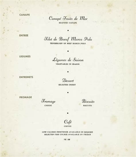 5 course dinner menu 34 best vintage menus images on