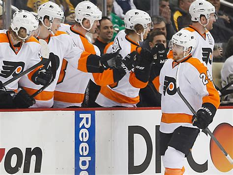 flyers bench flyers 4 penguins 3 philly
