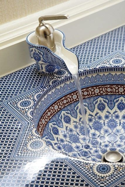 Mosaic bathroom sink absolutely love it blue and