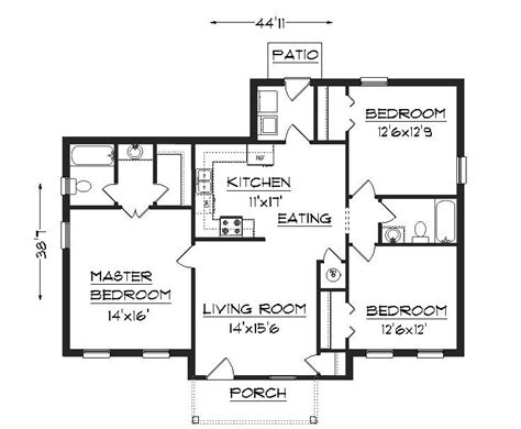 floor plans for a 3 bedroom house three bedroom small house plans google search home