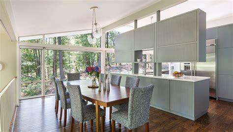 desain gambar padi renovasi dapur rumah midcentury modern di tabor hill by