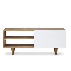 meuble tv 1 porte coulissante plaqu 233 ch 234 ne laqu 233 blanc