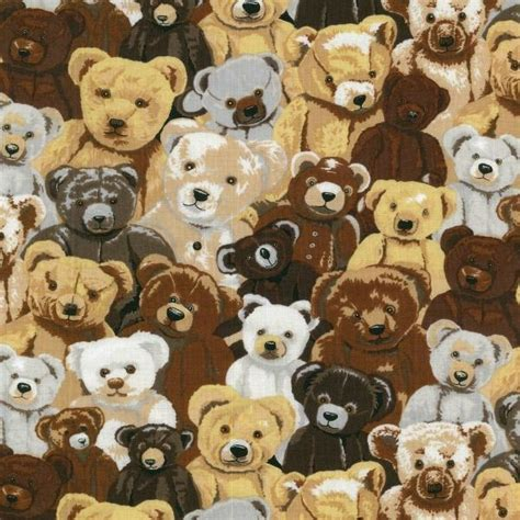 teddy bear upholstery fat quarter teddy time bears printed 100 cotton quilting