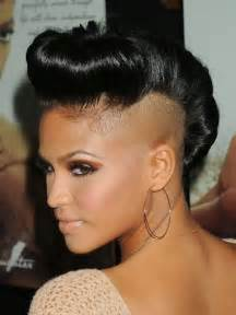 how to style half haircut for exotic mohawk hairstyles for black women