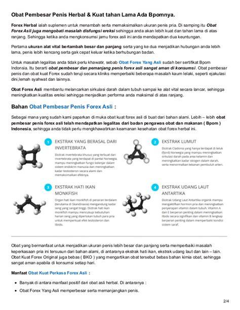 Obat Herbal Forex obat kuat herbal forex asli obat pembesar ada bpom