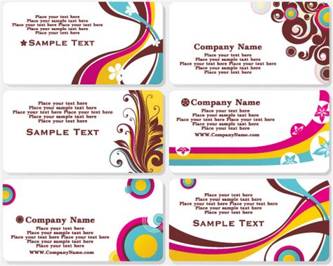 free vector fashion business card templates fashion business card template free vector in adobe