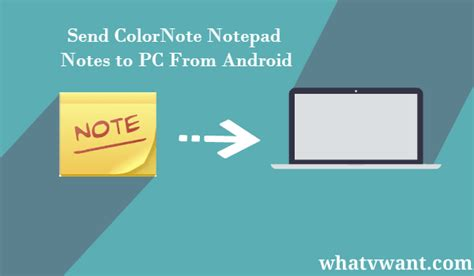 color note for pc 2 ways to send colornote notepad notes to pc whatvwant