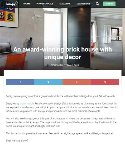 brick house design blog our modern home interior design project is featured by homify residence interior