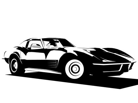 vintage corvette drawing 17 corvette vector free images free vector corvette clip