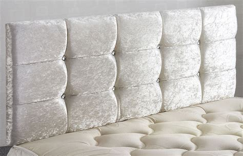 Velvet Buttoned Headboard by Ventura Crushed Velvet Headboard